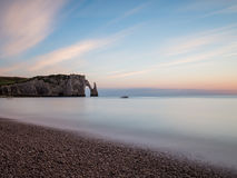 Solnedgång Normandie Royaltyfria Foton