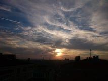 solnedgång och sikter Royaltyfria Bilder