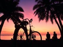 Solnedgång på 6 Arkivbild