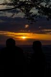 Solnedgång på anglosaxaren Schweiz Royaltyfri Bild