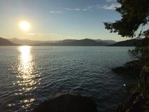 Solnedgång på Ansell punkt Fotografering för Bildbyråer