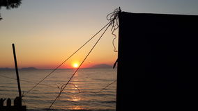 Solnedgång på Anzac Arkivbild