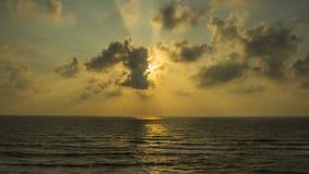 Solnedgång på Apollonia Beach Arkivfoto