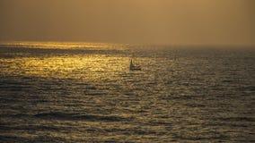 Solnedgång på Apollonia Beach Royaltyfria Foton