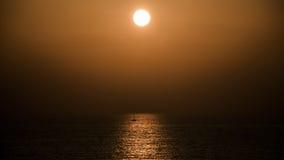 Solnedgång på Apollonia Beach Royaltyfria Bilder