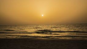 Solnedgång på Beth Yani Beach Royaltyfri Fotografi