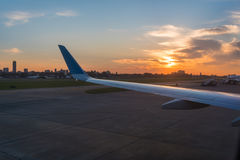 Solnedgång på Buenos Aires i Argentina Arkivbilder