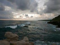 Solnedgång på Carizalillo Playa Royaltyfria Foton