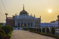 Solnedgång på Chhota Imambara, Lucknow Arkivfoton