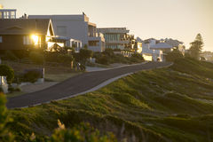 Solnedgång på Cliff Street Royaltyfri Foto