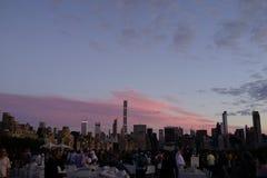 Solnedgång på den övreöstliga sidan 1 Arkivbild