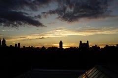 Solnedgång på den övrevästra sidan 22 Fotografering för Bildbyråer