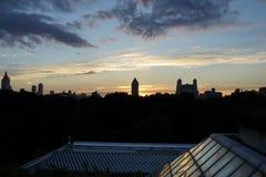 Solnedgång på den övrevästra sidan 20 Arkivbild
