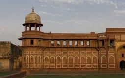 Solnedgång på den Agra forten, Agra Arkivfoto