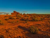 Solnedgång på den Colorado platån Royaltyfri Foto