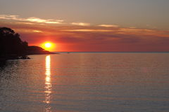 Solnedgång på den Fannie fjärden, Royaltyfri Foto