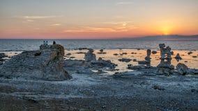 Solnedgång på den Faro ön royaltyfri fotografi