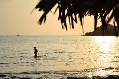 Solnedgång på den Kood ön thailand Royaltyfri Foto