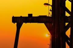 Solnedgång på den långa Bien bron Arkivbilder