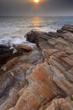 Solnedgång på den Laemya nationalparken Royaltyfria Foton
