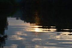 Solnedgång på den TrămÅŸani Pisica armen 3 Fotografering för Bildbyråer