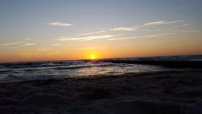 Solnedgång på det baltiska havet Royaltyfri Fotografi