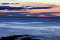 Solnedgång på det Fanad huvudet, Co Donegal Irland arkivbild