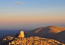 Solnedgång på det monteringsEvans observatoriumet Royaltyfri Bild