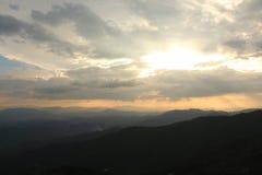 Solnedgång på Doi Pui Royaltyfri Bild