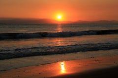 Solnedgång på Doubletree vid Hilton arkivbilder