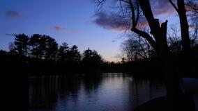 Solnedgång på en varm sommarnatt arkivfoton