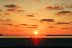 Solnedgång på Essaouira Royaltyfria Bilder
