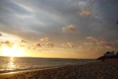 Solnedgång på ett historiskt ställe i Bahia Brazil royaltyfri fotografi