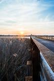 Solnedgång på förbise Royaltyfri Foto