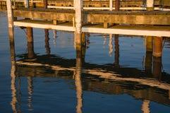 Solnedgång på fartygskeppsdockasnedsteg Royaltyfria Bilder