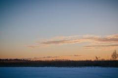 Solnedgång på Februari 14, 2017 Royaltyfri Bild