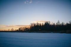Solnedgång på Februari 14, 2017 Royaltyfria Foton