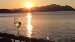 Solnedgång på fjorden Linnhe Argyll och Bute, Skottland, UK arkivfilmer