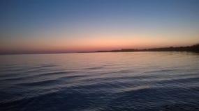 Solnedgång på flodarmlabatre Alabama Royaltyfri Fotografi