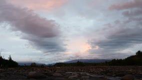 Solnedgång på floden Studenaya Giperlaps stock video