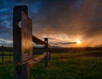 Solnedgång på fortfrederick Arkivfoto