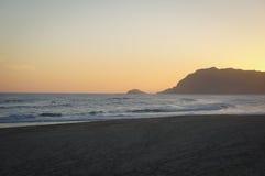 Solnedgång på Gerickes kop Arkivfoton
