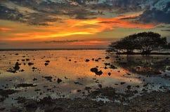 Solnedgång på Gili Trawangan Royaltyfri Foto