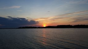 Solnedgång på Gotland Arkivfoton