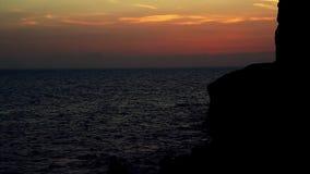Solnedgång på Gran Canaria arkivfilmer