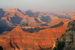 Solnedgång på Grand Canyon, Arizona fotografering för bildbyråer