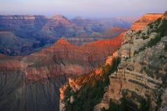 Solnedgång på Grand Canyon, Arizona royaltyfria bilder