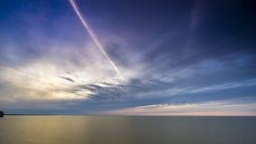 Solnedgång på Greaten Lakes arkivfilmer