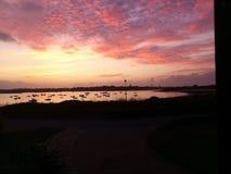 Solnedgång på guernsey Arkivfoton