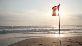 Solnedgång på hav lager videofilmer